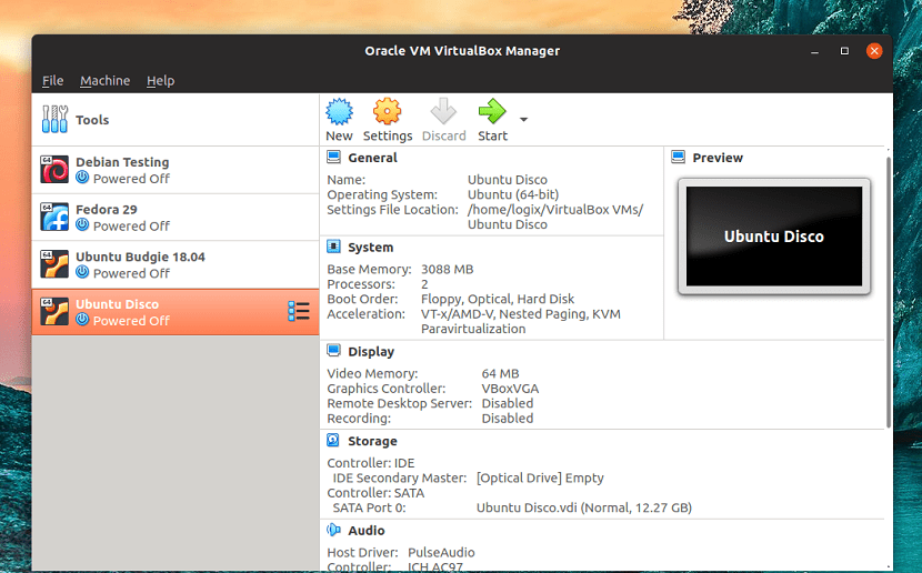 VirtualBox in action